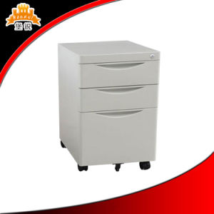 Steel Mobile 3 Drawer Filing Cabinet pictures & photos
