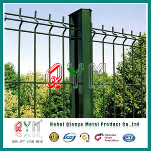 Green Welded Mesh Fence /Polyester Powder Coated Welded Fence pictures & photos