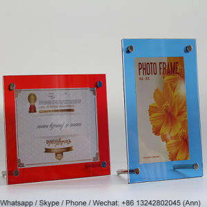 High Quality Colorful Magnetic Acrylic Photo Frame pictures & photos