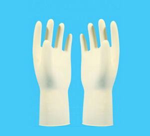 Disposable Sterile Latex Work Gloves pictures & photos