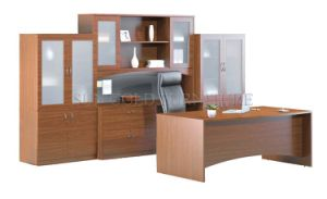Modern Office Desk with Bookcase (SZ-OD272) pictures & photos