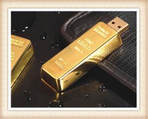 8GB Stick Shape Golden Bar USB Flash Drive (EM025) pictures & photos