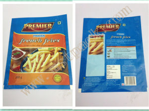 Frozen French Fries Packaging Bag/ Three Sides Sealed Bag pictures & photos