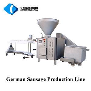 Chicken Beef Pork German Sausage Making Machine Equipment/Sausage Production Line pictures & photos