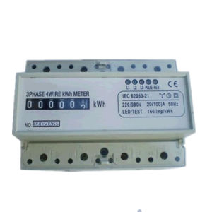 Three Phase DIN-Rail Active Electronic Energy Meter pictures & photos