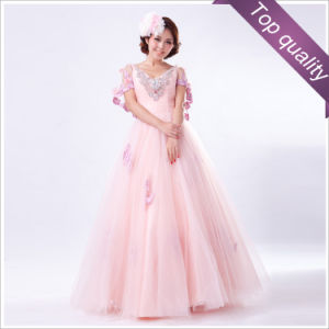 Pink Glamorouse Girl′s Party Dress (F-112)