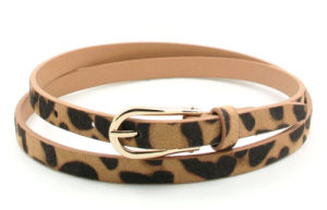 Leopard Design Lady′s Skinny Belt Ky5810 pictures & photos