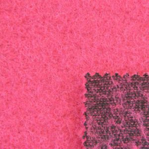 Felting Wool Ployester Blended Knitted Fabric for Women Clothes