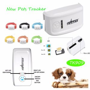 Newest Mini GPS Pets Tracker with Multi-Color Collar Tk909 pictures & photos
