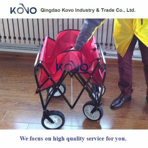 Easy Go Wagon Folding Collapsible Utility Wagon Canopy Sturdy Garden Cart pictures & photos
