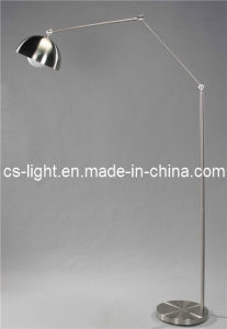 Modern Arm Moved Satin Nickel Floor Lamps (CTF375)
