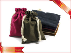 Garment Packing Bag Velvet String Bag Promotion String Bag pictures & photos