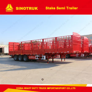 3 Alxe Sinotruk Stake/Fence Semi Trailer Truck Trailer pictures & photos