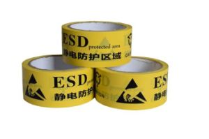 OPP Yellow ESD Waring Tape for Packing Use pictures & photos
