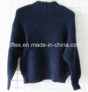 Black Turtleneck Velvet Long Sleeve Sweater for Women pictures & photos