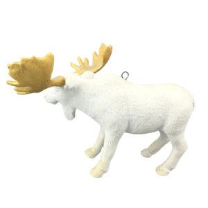 White Ceramic Elk Pendant for Christmas Hanging Decoration pictures & photos