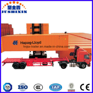 Skeletal/Flatbed Container Trailer with Single Axle pictures & photos