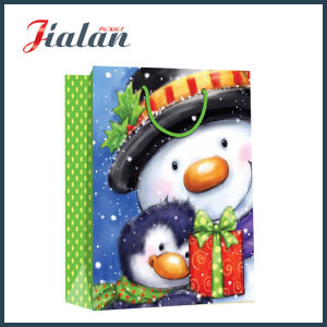 Wholesale Promotion 4c Printed Snowman Design Christmas Paper Gift Bag pictures & photos