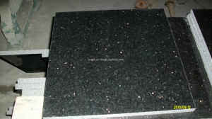 Good Quality Black Galaxy Granite Polished Tiles & Slabs pictures & photos