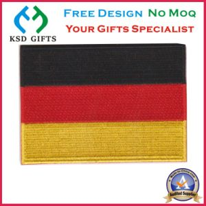 Popular Flag 100% Embroidered Custom Patch with Magic Tape on Back pictures & photos