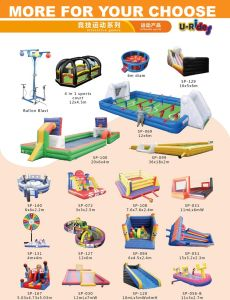 Commercial Grade Inflatable Skee Ball Game Pitching Game For Event Rental pictures & photos