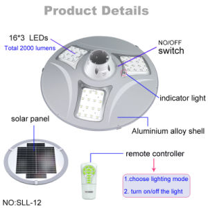 Aluminum Case Modern Solar LED Wall Light 20W for Outdoor Park pictures & photos