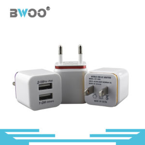 Universial Dual USB Wall Charger for EU/Us Adapter pictures & photos
