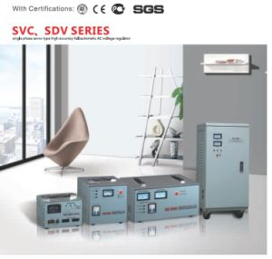 SVC Motor Single Phase Servo Type Meter Display Electromechanical Control Automatic AC Voltage Regulator/Stabilizer/AVR pictures & photos