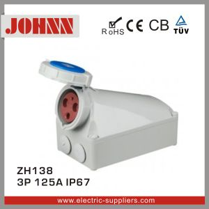 IP67 3p 125A Female Industrial Socket pictures & photos