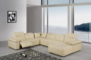 Modern Living Room Sofa with Electric Recliner for Genuine Leather Sofa Set pictures & photos