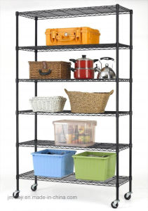 6 Tiers Adjustable Wire Metal Shelving Rack pictures & photos