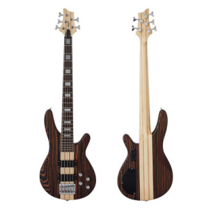Factory Produced Wholesale Zebrawood Electric Guitar Bass pictures & photos