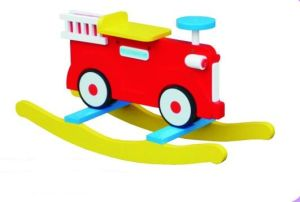 Hot Sale Wooden Baby Chair Fire Engine Rocker for Kids and Children pictures & photos