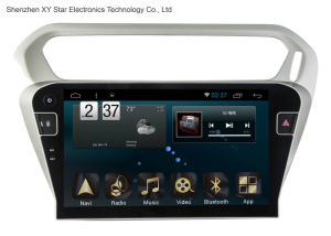 Android 6.0 System 10.1 Inch Big Screen GPS Navigation for Peugeot 301