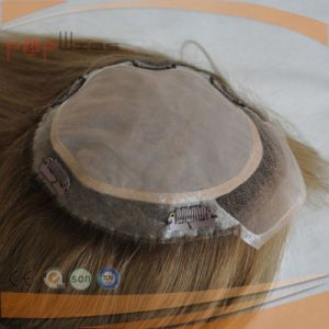 Brazilian Hair Top Quality Clips in Lace Front Toupee pictures & photos
