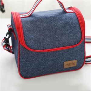 Fresh Insulation Bag Ice Bag Portable Insulation Bag Denim Refrigerated Lunch Bag Picnic Bag (GB#80042) pictures & photos