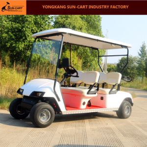 Good Quality 4 Seater Electric Golf Cart for Golf Course and Sightseeing pictures & photos