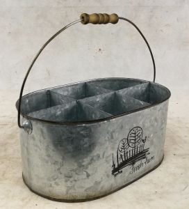 Natural Oval Tin Metal Bucket Divided pictures & photos