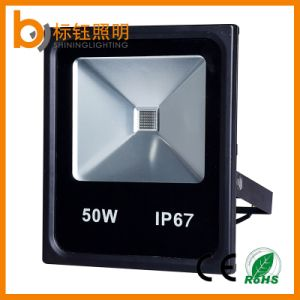 Waterproof IP67 COB 50W Outdoor Light Slim Square Garden LED Floodlight pictures & photos