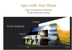 LED Projector Beamer Support Dlan Airplay Sync with Phone PC