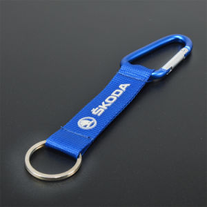 Customized Silkscreen Wristband Short Key Lanyard with Keyring pictures & photos
