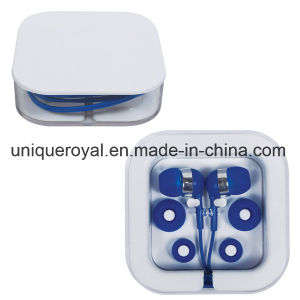 Promotional Earbuds in Clear Square Case pictures & photos