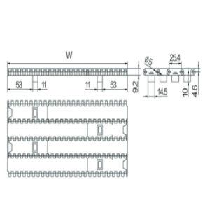 25.4mm Pitch Modular Belt (WZ-2540B) pictures & photos