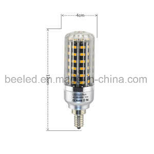 LED Corn Light E12 10W Warm White Silver Color Body LED Bulb Lamp pictures & photos