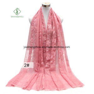 Tie-Dyed Retro Embroidery Rattan Shawl Lady Fashion Scarf pictures & photos