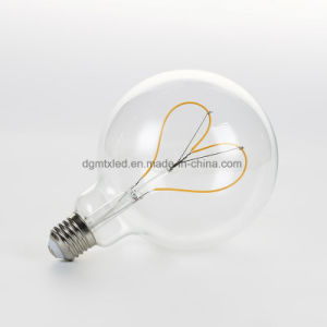 Soft filament LED bulb Globe clear decoration bulb 4W pictures & photos