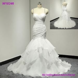 New Prodcuts Floor Length Backless Chiffon Elegant Wedding Dresses pictures & photos