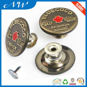 Custom Fashion Metal Buttons Alloy Jeans Button pictures & photos