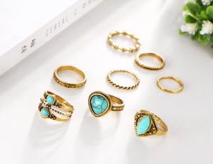 Vintage Jewelry Ring Set for Woman Man Set De Anillos Punk Boho Turquoise Knuckle Rings pictures & photos