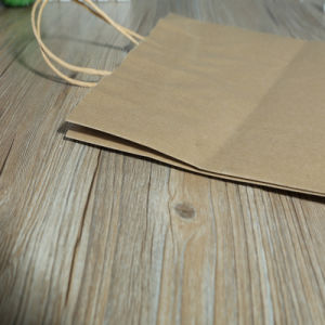 Food Package Paper Bag Brown Kraft Paper Bag pictures & photos